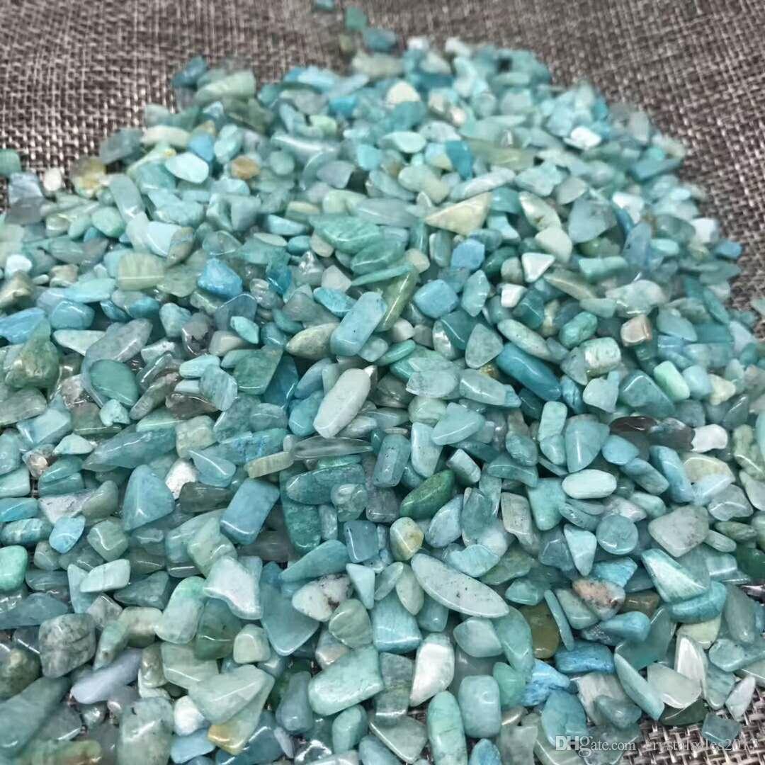 Sac 1 100 g de cristal de quartz amazonite pierre naturelle crysta de pierre Tumbled pierre irrégulière (taille: 7-- 12 mm, couleur: bleu)