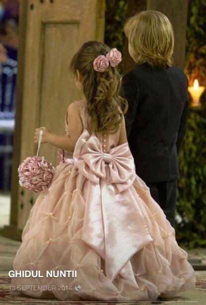 Flower Girl Dress with Bow in Back