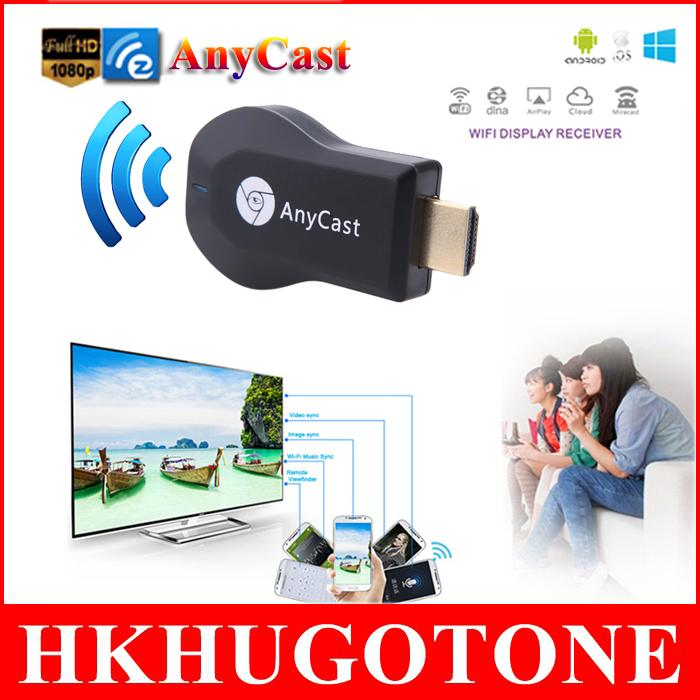 HD 1080P Media Player AnyCast M2 Plus Airplay Wifi Display TV Dongle Receiver DLNA Easy Sharing TV Stick for Windows IOS Andriod
