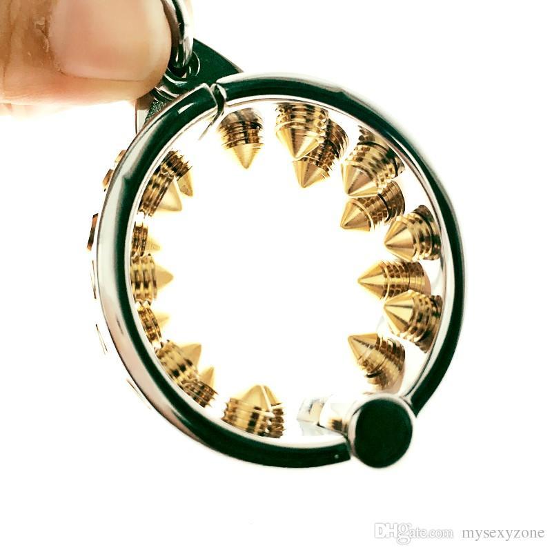 Denti Kalis Sfera in acciaio inox Peso gabbia testicolo Dispositivo di ritenuta Prodotti del sesso per adulti Barella con palla BONDAGE CBT FETISH