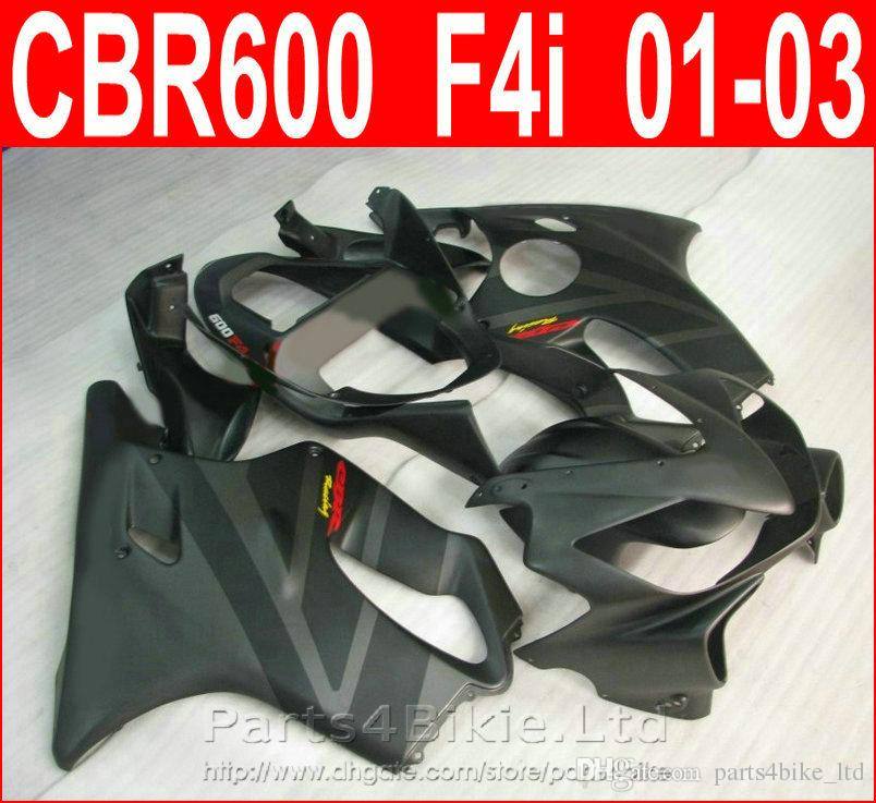 High grade Matte black Motorcycle body repair parts for Honda fairing kit CBR600 F4i 2001 2002 2003 CBR F4i cbr600f4i fairings RXPX