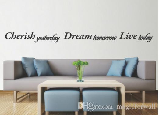 Wand Anfhrungsstrich Abziehbild Aufkleber Englische Wrter Fashion Home Kunst Wanddekor Poster Wohnzimmer