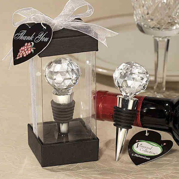 Hot shot 10 PCS/lot crystal wine bottle stopper Br...