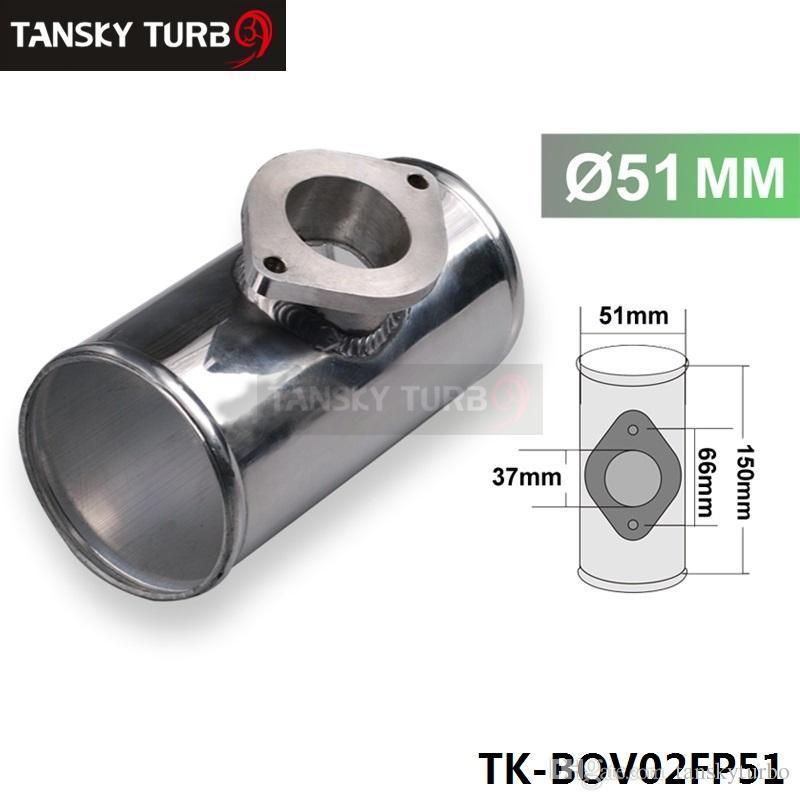 """Calidad alta 51MM 2"""" aleación T trozo de tubo en forma para GReddy RZ y RS BOV TK-BOV02FP51"""