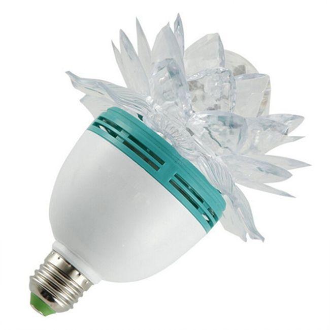 50pcs Yeni Ürünler Renkli Lotus Flower 3W E27 LED RGB Oto Döner Ampul Sahne Işık Noel Yılbaşı Partisi Lambası Bar Yüksek Kalite Işıklar