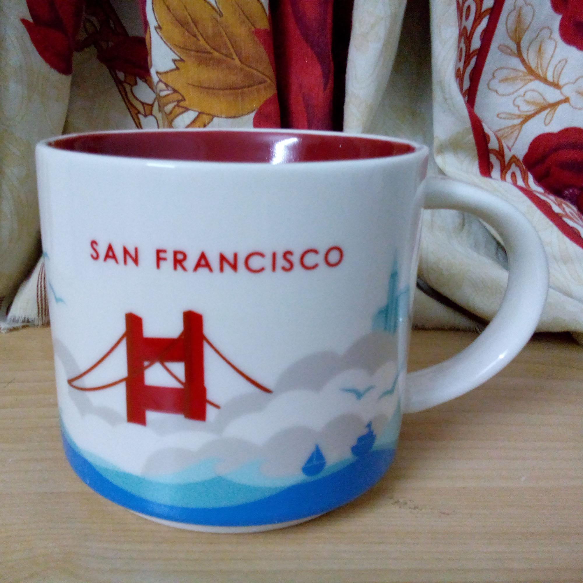 14 oz Kapasitesi Seramik İl Mug Amerikan Şehirler En İyi Kahve Mug San Francisco City