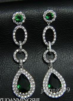 Kleurrijke Diamond Waterdrops L Lady's Earings (6 * 1,6 cm) (GGHHJJGHJ)