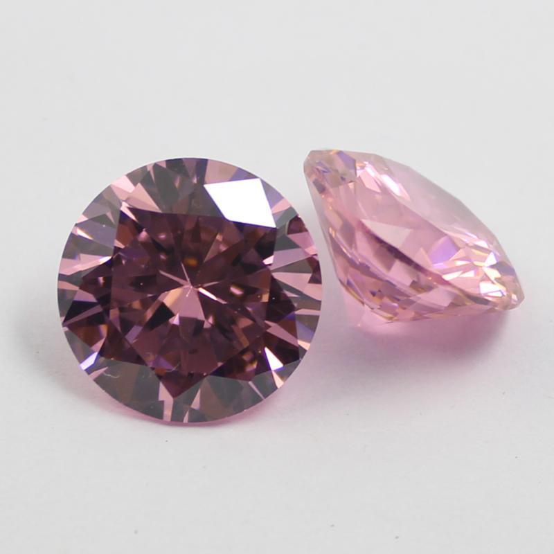 2.5mm-16mm 큐빅 지르코니아 핑크 라운드 느슨한 보석 돌