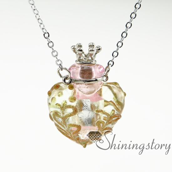 heart diffuser locket aromatherapy necklaces essential jewelry glass vial pendant necklace small perfume bottles wholesale diffuser necklace