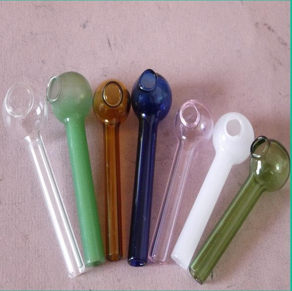 Artesanía de vidrio ---- Maceta de vidrio coloreado, accesorios de la cachimba, color al azar