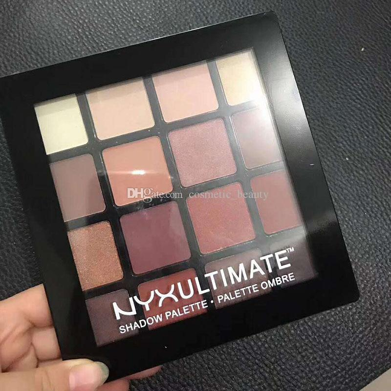 New Arrival NYX Professional Makeup Warm Neutrals Eyeshadow Palette 16 color eyeshadow palette eyeshadow DHL Free shippi ! DHL Free shipping