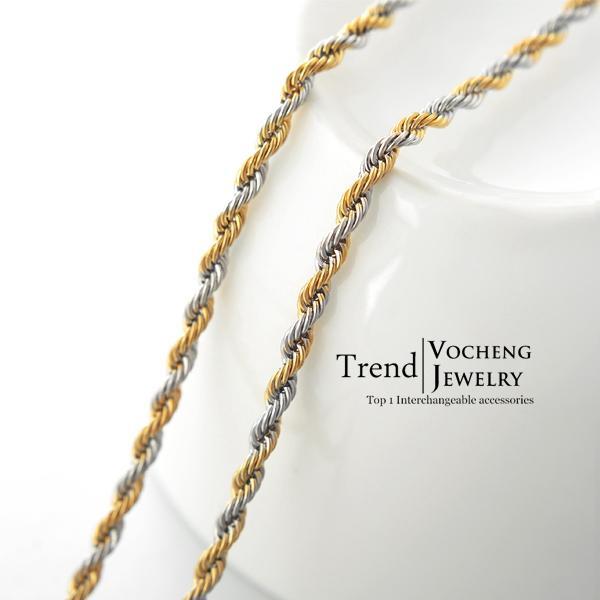 55 سم سلسلة الفولاذ المقاوم للصدأ سلسلة النتائج مجوهرات المشبك جراد البحر حبل سلسلة معدنية طويلة (VC-015)