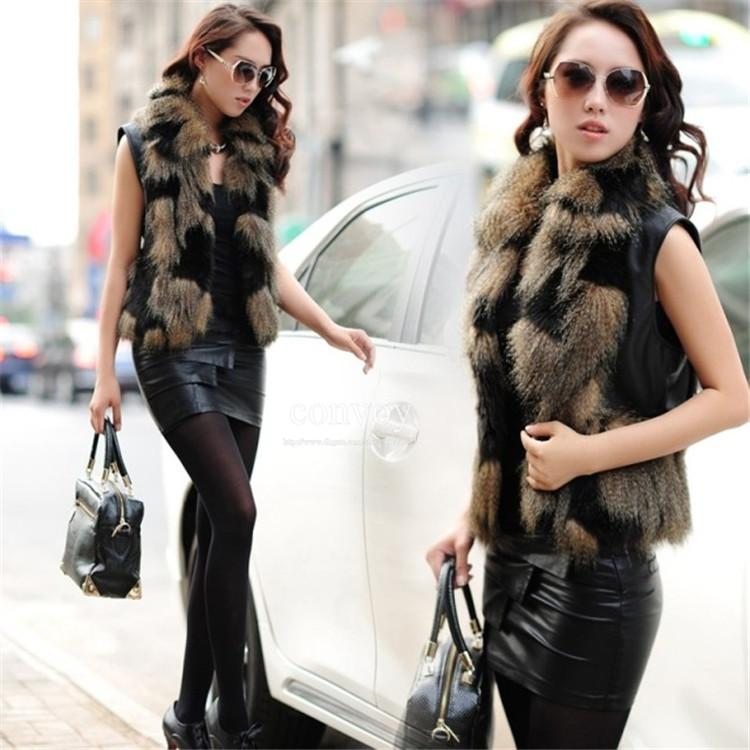 New 2015 Womens Faux Fox Fur Vest Ladies High Quality Fur Coat ...