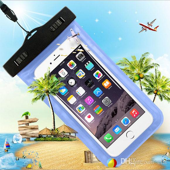 Case Cover in PVC impermeabile subacquea IPX8 caso di nuotata del bracciale del sacchetto di tracolla per iPhone 4 6 5S 5.5 Inoltre galassia S6 S5 4 S3 HTC LG Telefono universale