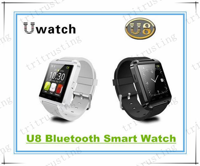 U8 Smart Bluetooth Watches WristWatch U8 U Watch for iPhone Samsung S4/S5/Note 2/Note 3 HTC Android Phone Smartphones MQ200