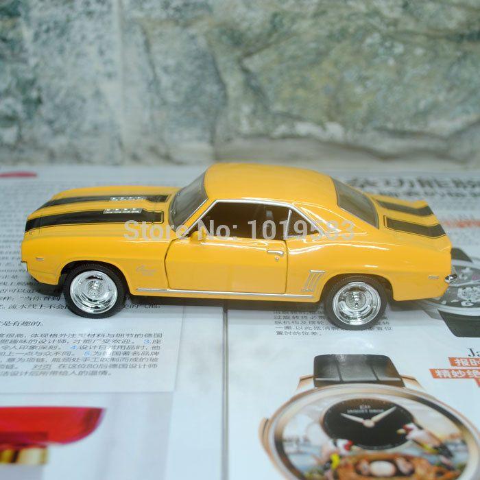 Modellino Chevrolet Camaro SS 1969 miniatura scala 1:36 metallo auto epoca Nera