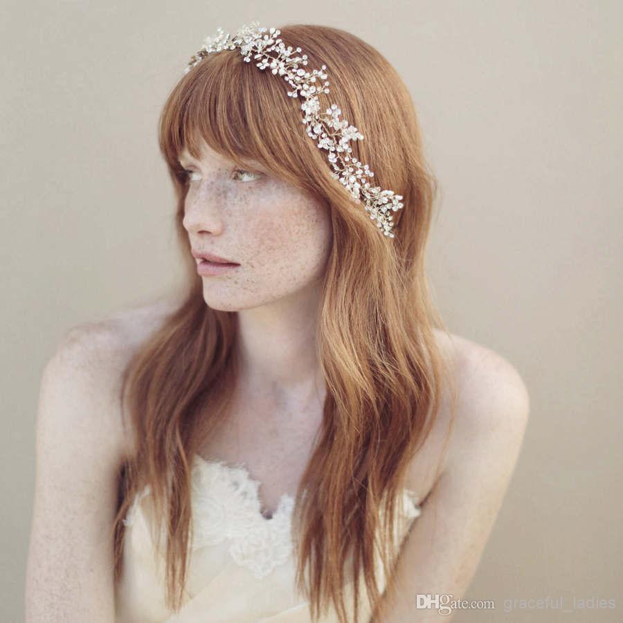 2015 joyería hecha a mano Headwear accesorios nupciales de cristal para pinzas para el pelo de la boda de plata ganchillo venda del pelo vid celada de la boda