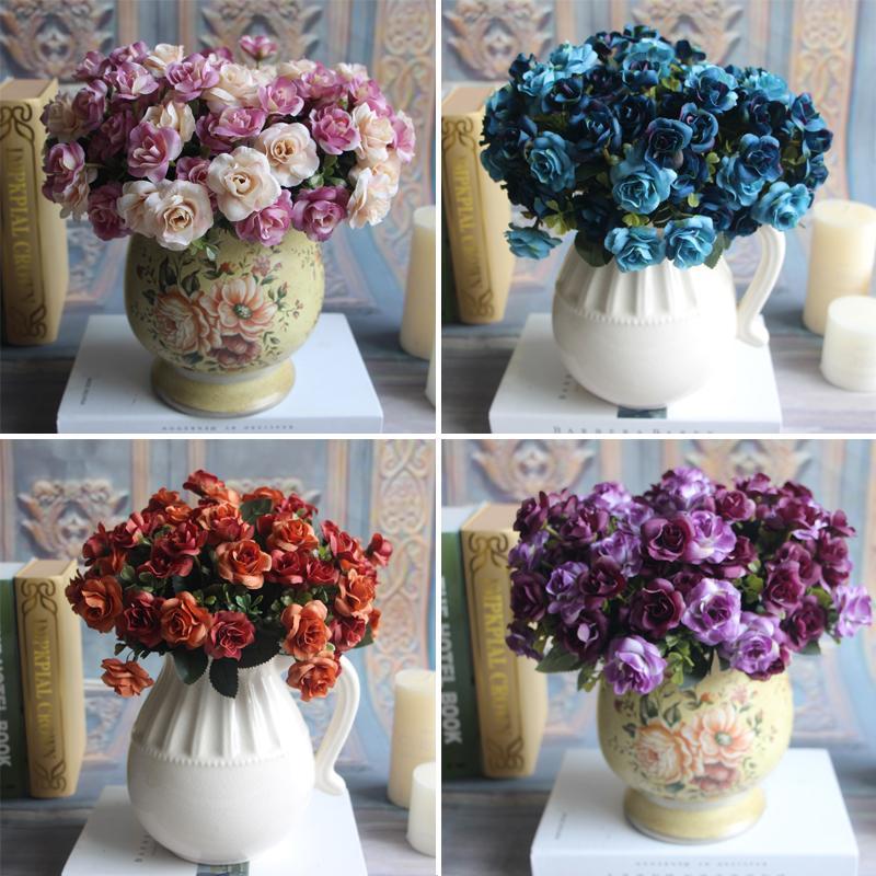 Austin 15 heads Autumn Silk Flowers Artificial Rose Wedding Party Home Decor Flower Arrangement Peony