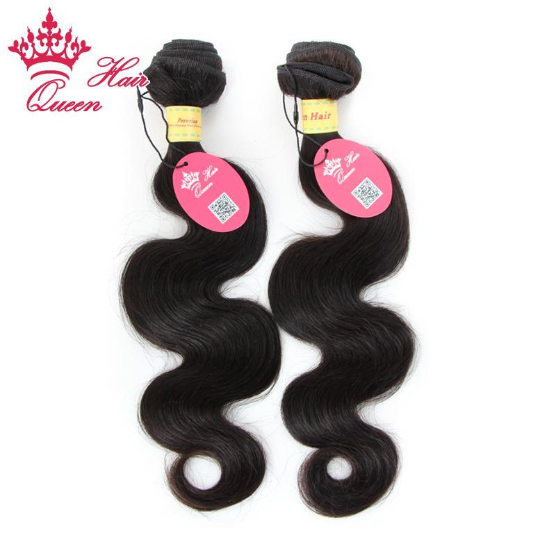 Koningin Haarproducten Peruaanse Maagd Menselijk Haar Weave Golvend Best verkopende natuurlijke kleur Body Wave Hair Extensions 2pcs Lot Gemengde lengtes 12 - 28