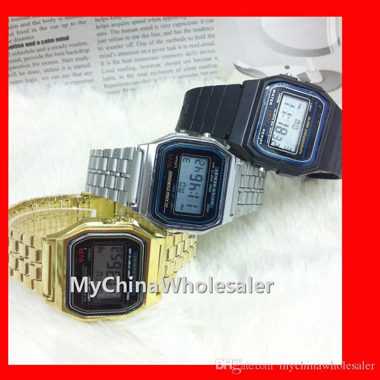 Free Shipping Digital Display Casual Watches Fashion Ultra Thin LED Wrist Watches Men Women Unisex Sport watch