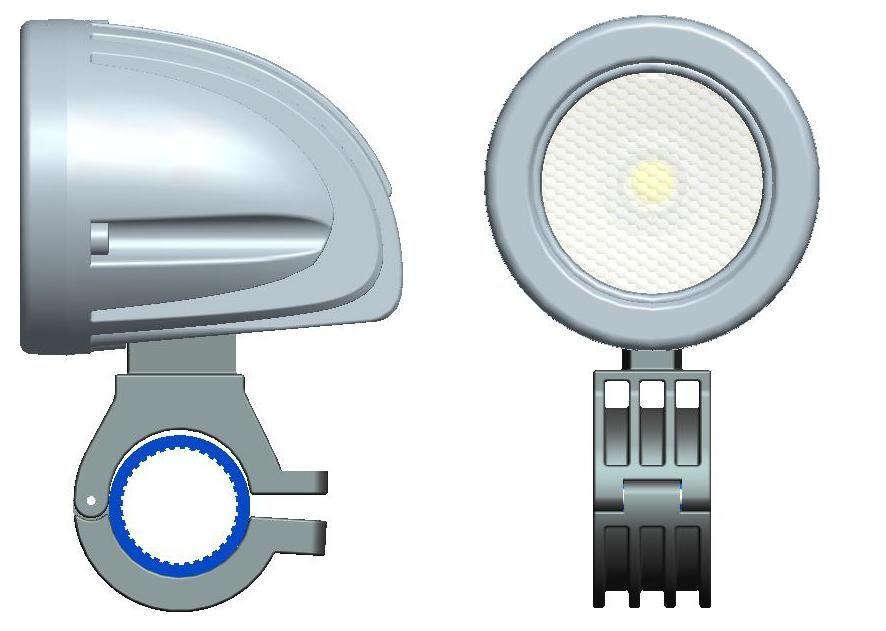 Бесплатная доставка 2 дюйма 12V / 24V 800LM 10W водонепроницаемый LED свет работы вождения противотуманные фары для автомобилей / мотоциклов / лодка