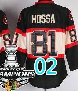 2014 Stadium Series Chicago Blackhawks #81 Marian Hossa Black NHL Jersey