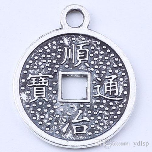 Круговой выдалбливают кулон восстановление древних путей серебро / медь кулон DIY ювелирные изделия кулон fit ожерелье или браслеты 500 шт. / лот #1572ct
