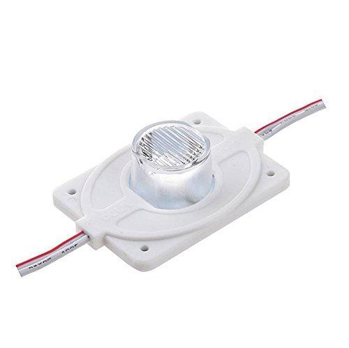 100 stks DC12V High Power Waterdichte LED-module 3W met injectie Len (1LED, wit, 3W) voor dubbelzijdige lightbox hoge helderheid