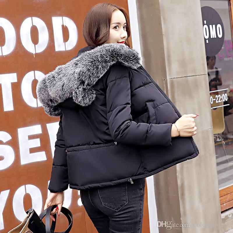 2017 heißer Verkauf Herbst Winter Damen Parkas Mäntel Mit Kapuze Kurz Unten Mantel Warme Neue Mode Lässig Oberbekleidung Für Frauen M-2XL Größe