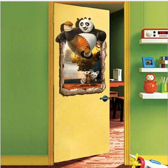 New Kungfu Panda 3d Wall Stickers For Kids Rooms Decor Diy Art Mural ...