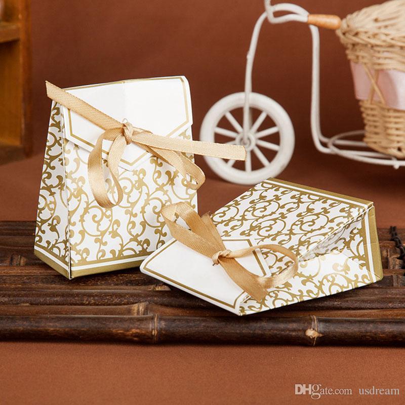 Acquista Imballaggio Di Caramelle Di Moda Bomboniere Oro