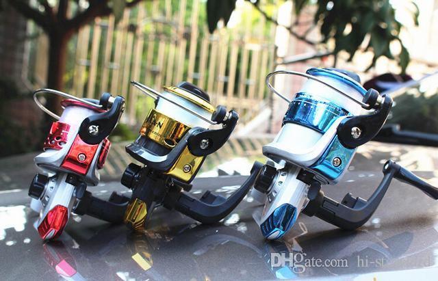 HOT 200 سلسلة مصغرة بكرات الصيد الغزل بكرات الخط المجاني L / R تبادل اليد 5.2: 1 بكرات صغيرة مواد بلاستيكية عالية القوة جودة عالية!