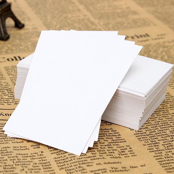 2015 200pcs White Blank Business Cards 120gsm - 90 x 55mm - Print Your Own DTY Craft order<$18no track