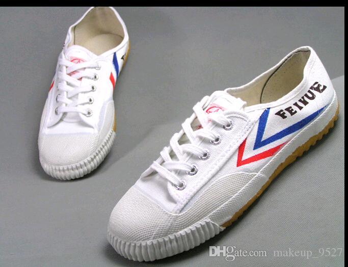 Hot Feiyue Sneaker di tela ultra leggera Wushu per uomo e donna, per Kung Fu, arti marziali e sport casual Classiche scarpe bianche nere