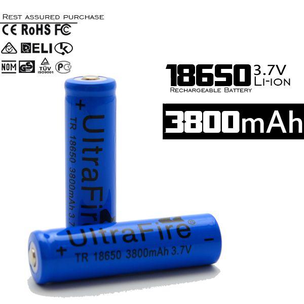 4PCS 18650 Li-ion 3800mAh 3.7V Rechargeable Battery for Flashlight CF