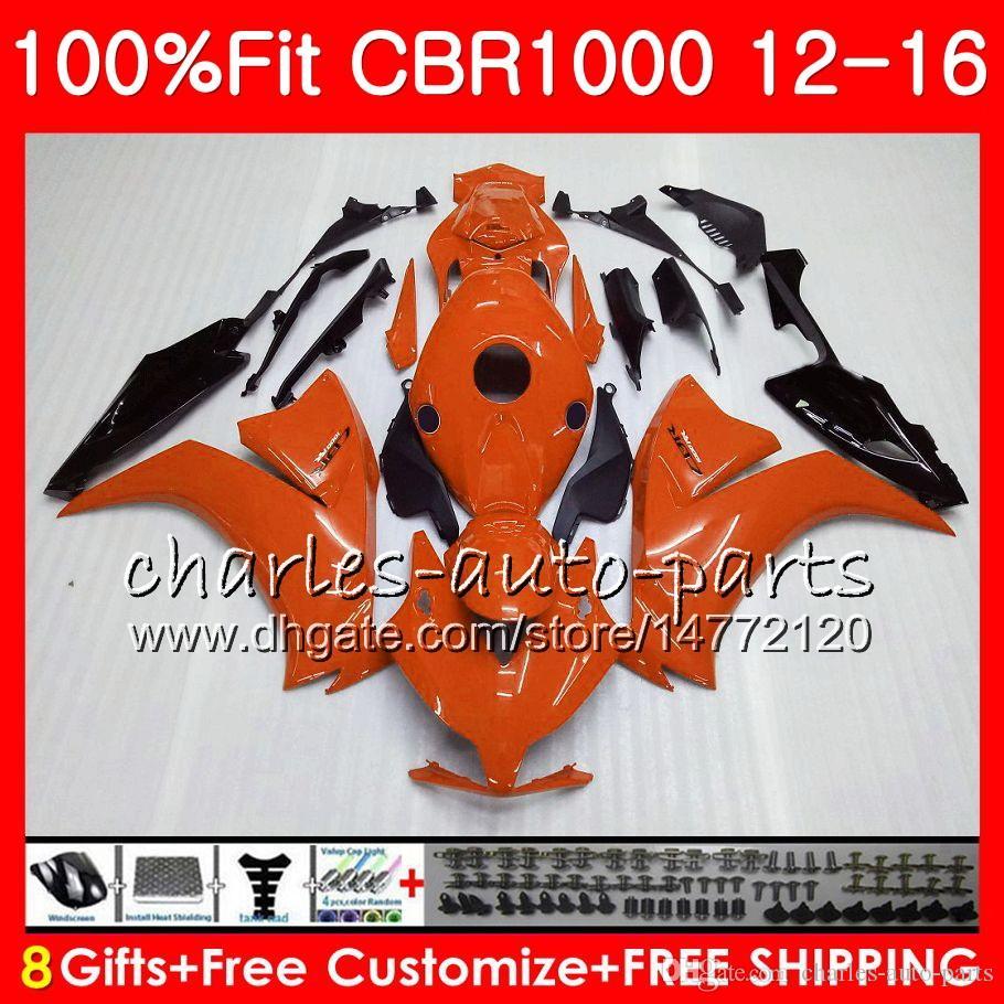 Einspritzung für HONDA CBR1000 RR orange Schwarzes CBR 1000 RR 12 16 88NO93 CBR 1000RR 12 13 14 15 16 CBR1000RR 2012 2013 2014 2015 2016 Verkleidungen