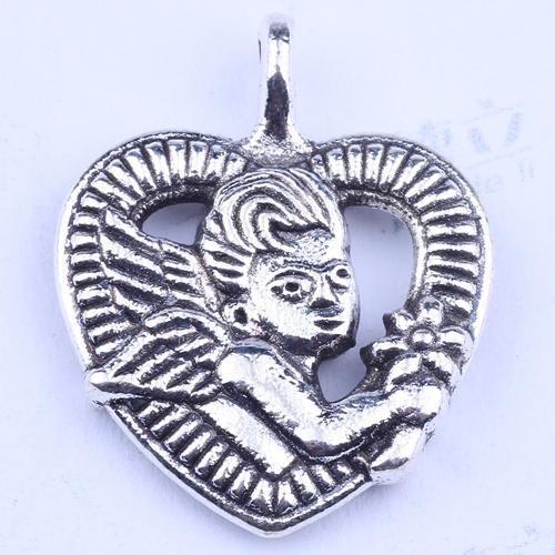 100 шт. / лот горячие продажа ретро серебро / бронза сердце ангел кулон производство DIY ювелирные изделия кулон fit ожерелье или браслеты Шарм 2927