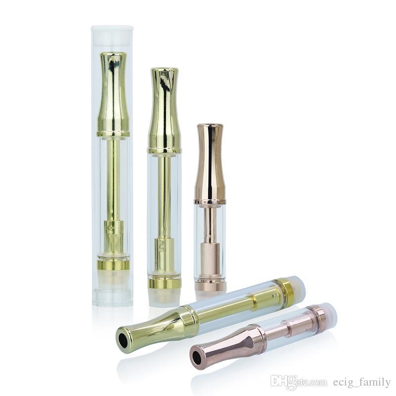 Hot Sale 92A3 Gold Vape Pyrex Glass Atomizer Glass Tank 510 Cartridge .5ml 1ml Disposable Oil Cartridge CO2 Vaporizer Dual Coil