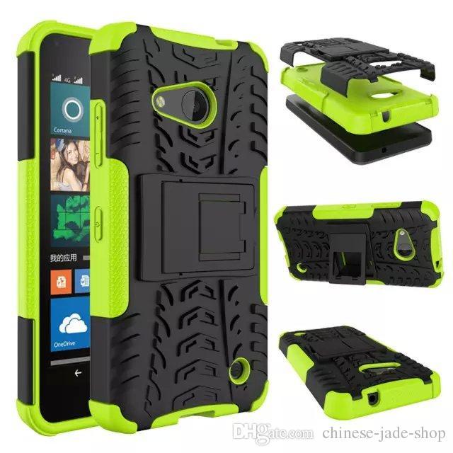 per Microsoft Lumia 550 Asend P9 Y3 II Y5 II HONOR 7 8 5C Dazzle Hybrid KickStand Resistente agli urti TPU resistente + Custodia antiurto per PC Cover 50