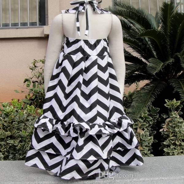 Black and white toddler maxi dress