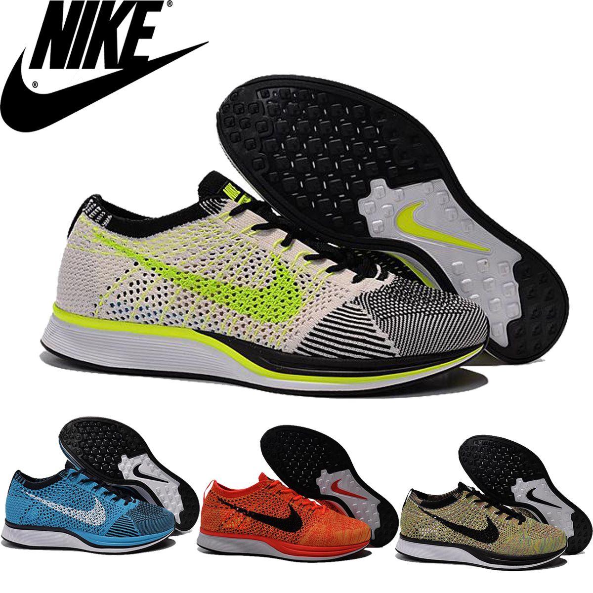 Compre Nike Flyknit Racer Negro Blanco Kanye West Oreo Hombres De Los  Zapatos Corrientes, Nike Racer Blue Lagoon Negro Gecko 526628 401 Hombres  ...