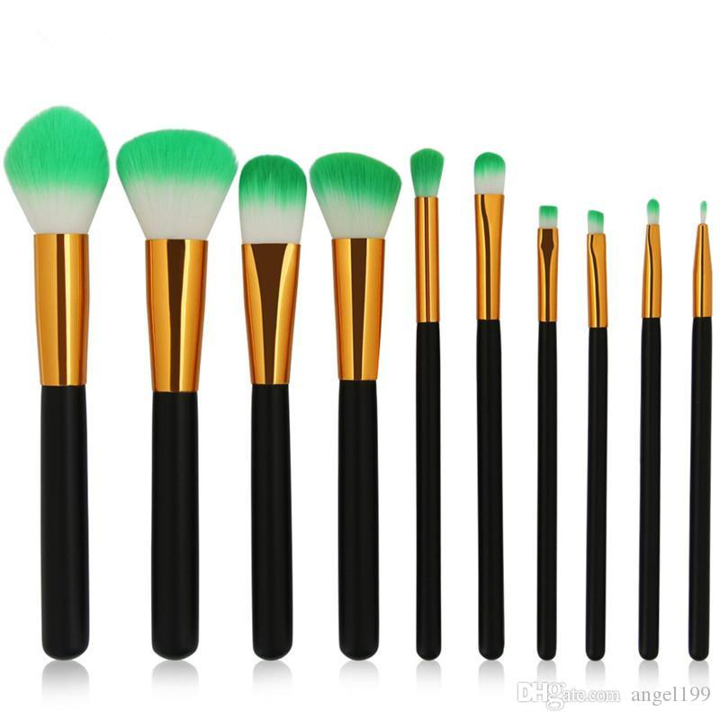 Make-up-Pinsel 1Set = 10-teiliges Set Schöne professionelle Make-up-Pinsel-Tools von DHL