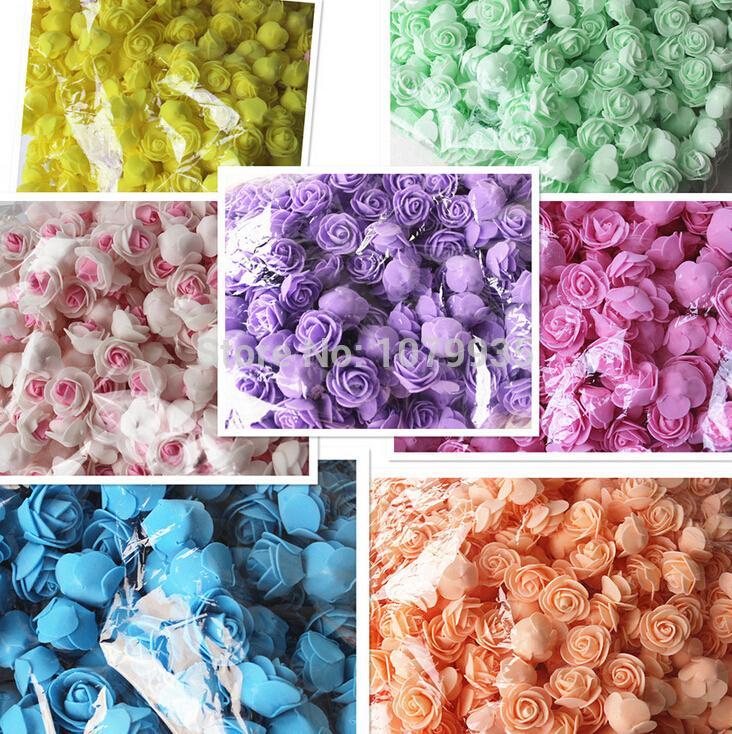 FREE SHIPPING 13Colors Wholesale 50PCS/Bag PE Foam Rose Handmade DIY Wedding Home Decoration Multi-use Artificial Flower Head