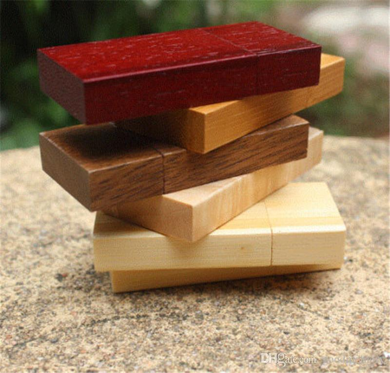 100% real natrual wooden 2GB 4GB 8GB 16GB 32GB 64GB USB flash drive pendrive thumb drive for tablet PC with free shipping