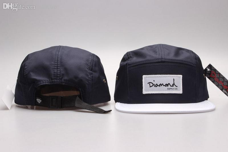 Atacado-nova moda 20 estilos diamante cap 5 painel snpabck chapéus bonés de beisebol gorras Snapbacks óssea hip hop 5 Painel Cap Hat frete grátis