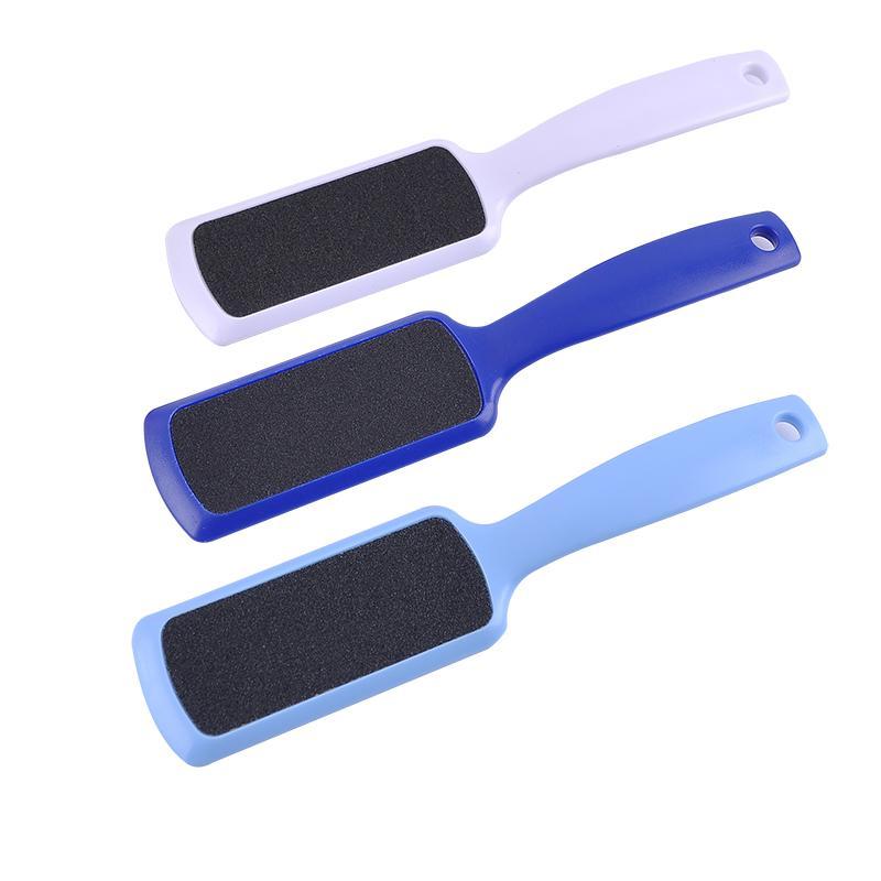 10 pcs / lot râpe en plastique pour pieds pied râpes nail art fichier de papier de verre pour pédicure callus remover LIVRAISON GRATUITE
