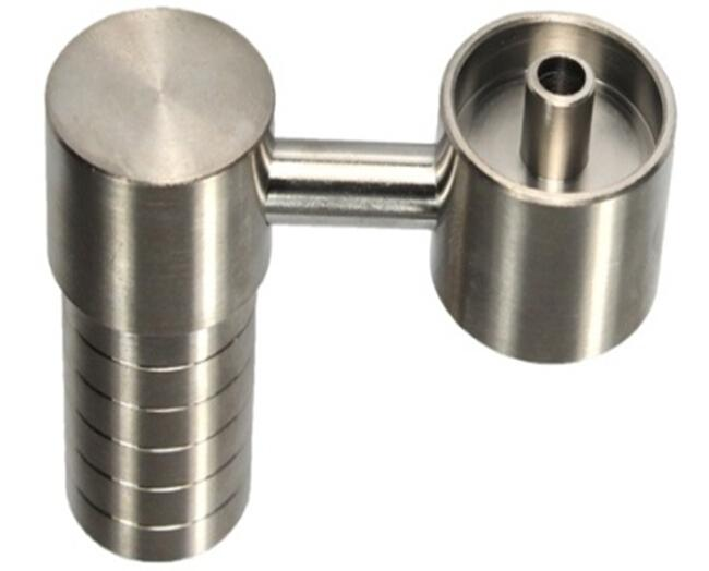 Female domeless titanium nail for both 14.5MM and 18.8MM
