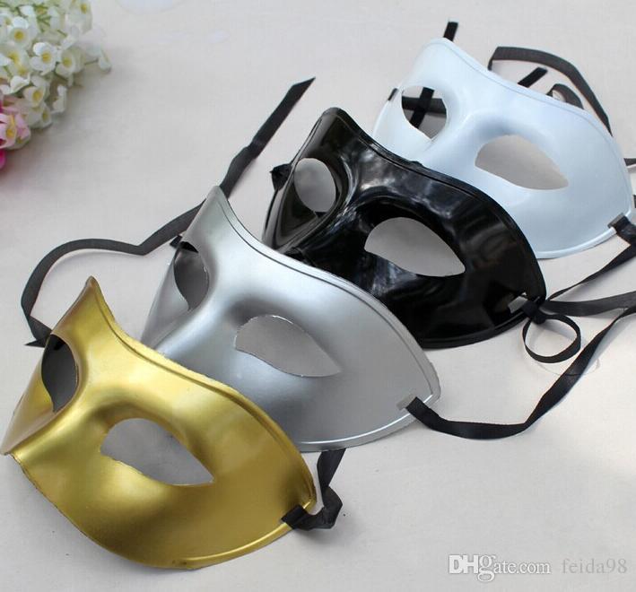 Feestmasker Klassieke kostuum Dames / Mannen Venetiaanse Maskerade Half Gezichtsmasker 4 Kleuren