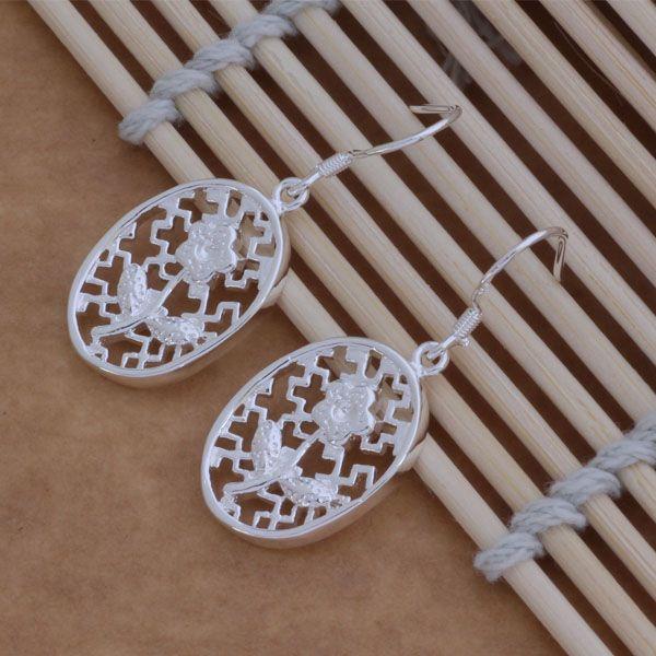 Мода (производитель ювелирных изделий) 40 шт. много овальные резные серьги стерлингового серебра 925 ювелирные изделия заводская цена мода блеск серьги