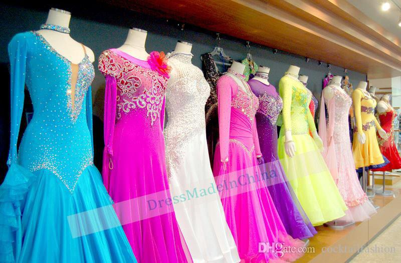 2018 Competition Dance Dresses Royal Blue Flamenco Dress Glass Stone ...